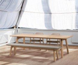 Exklusive Conde House Ten Design Sitzbank in Eiche Natur Matt