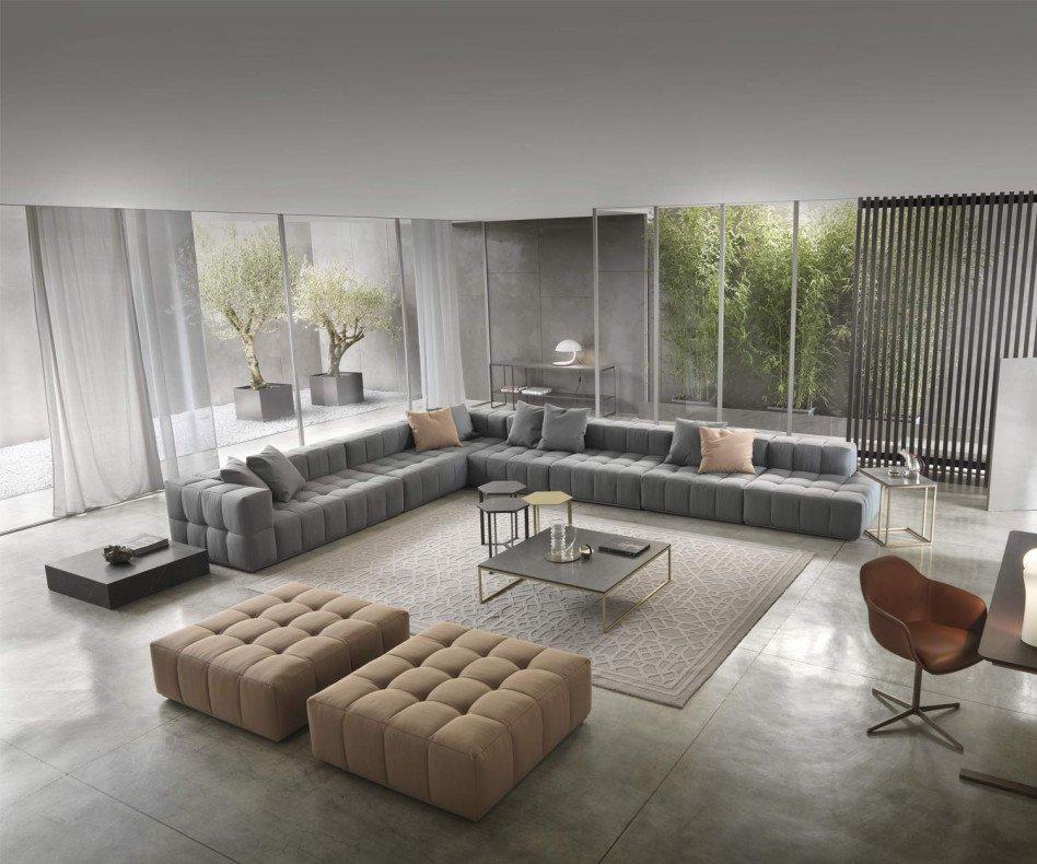 Hochwertiges Big Club Lounge Sofa Andy von Marelli Italien