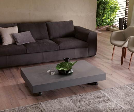 Ozzio Newood Tisch T123 Beton Zement Optik