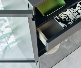 Hochwertige Livitalia Scrigno Design Glasvitrine 180 Grad Scharniere