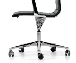 Hochwertiger ICF Una Chair Management Bürostuhl Aluminium Chrom Gestell