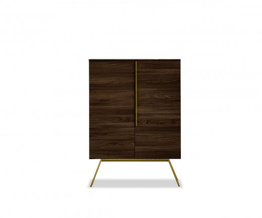 Novamobili Design Highboard Cleo in Eiche dunkel