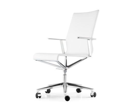 Moderner ICF Stick ETK Chair im Detail Chrom Aluminium Leder