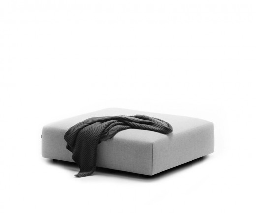 Exklusiver Prostoria Design Pouf Hocker Match in Hellgrau