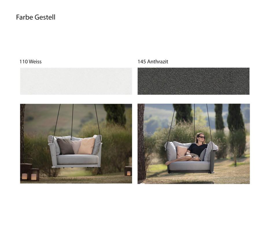 Exklusiver Todus Baza Round Swing Outdoor Garten Balkon Hängesessel