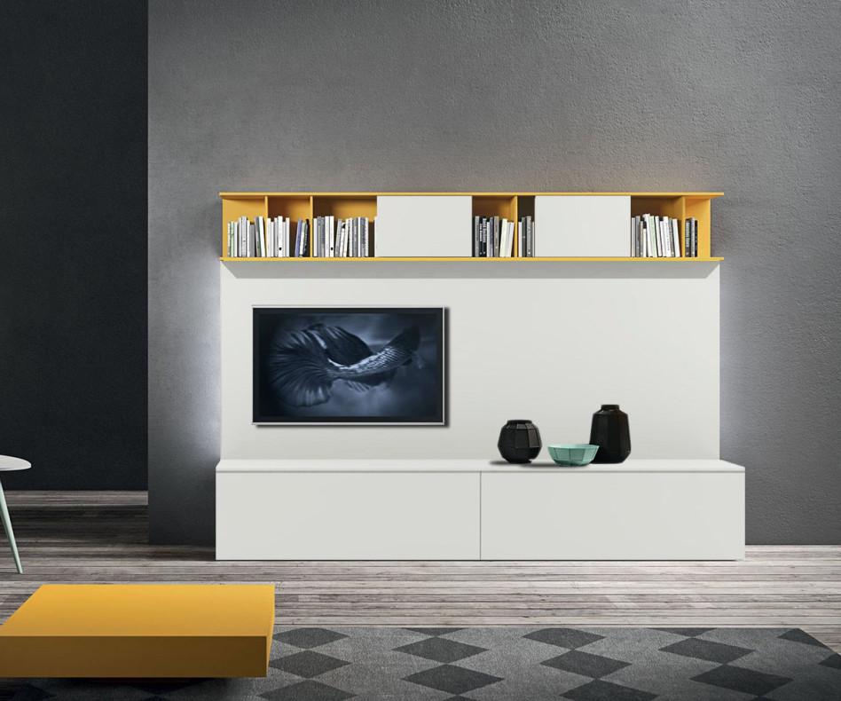 Moderne Design TV Wohnwand mit Regal und TV Paneel
