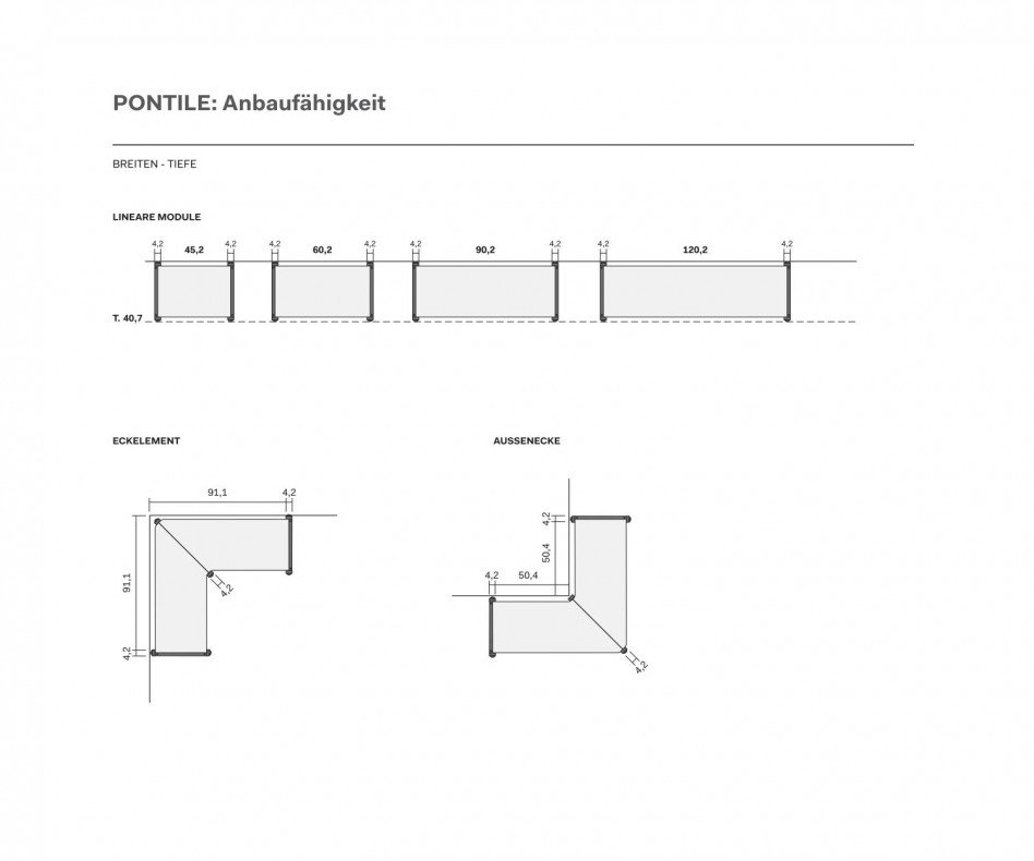 Novamobili Design Metallregal Pontile Regalsystem