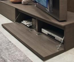 Moderne Livitalia Design Wohnwand C45 TV Lowboard mit offener Klapptür
