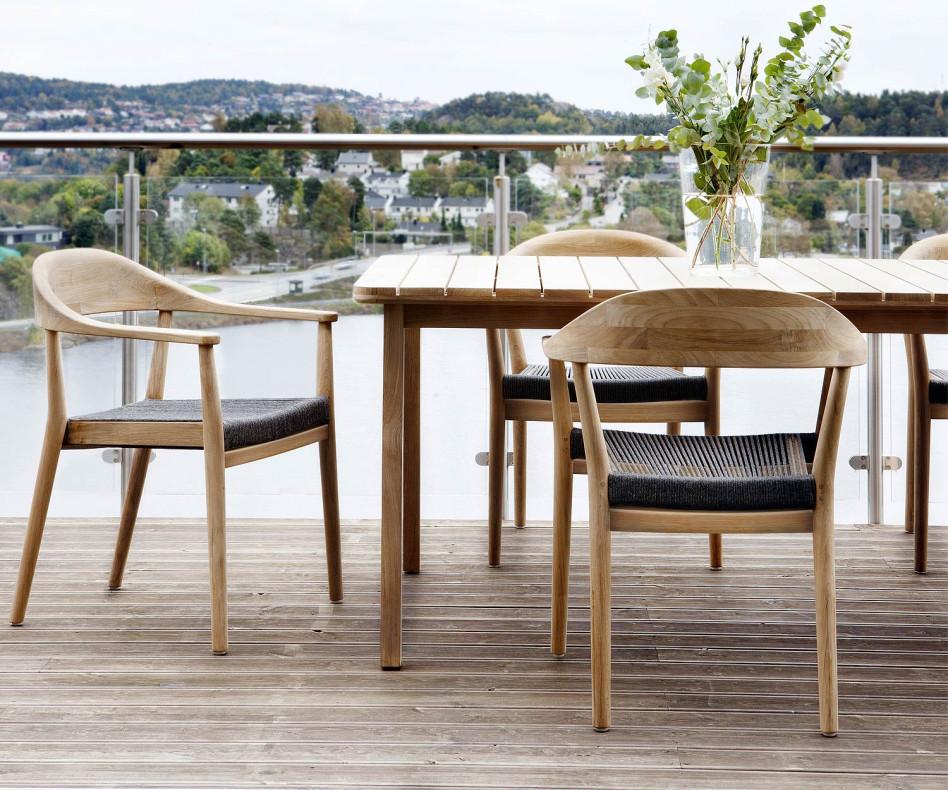 Moderner Oasiq Copenhagen Design Terrassenstuhl aus Teak