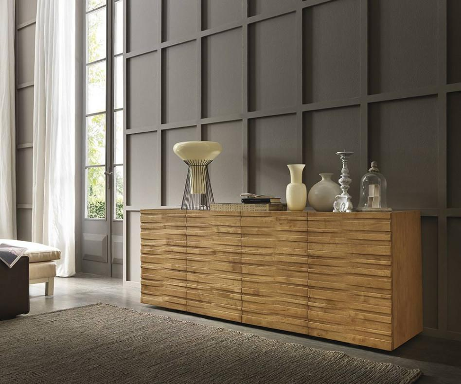 FGF Mobili Massivholz Sideboard Waves