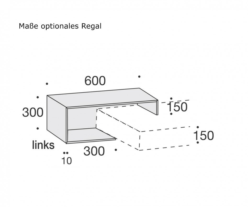 Exklusiver Livitalia Design Nachttisch hängend 1 Schublade