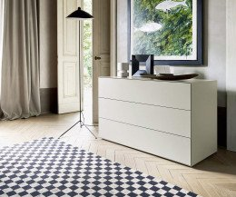 Hochwertige Livitalia Ecletto Design Kommode mit 3 Schubladen