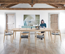 Moderner Novamobili Stuhl Rose Design Esszimmerstuhl Eiche hell