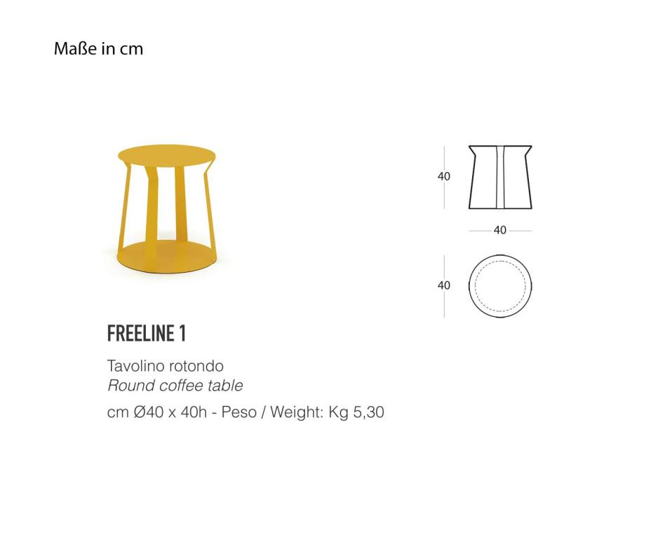 Exklusiver MEME DESIGN Freeline 1 Beistelltisch im Ensemble zusammengestellt