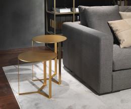 Marelli Designer Beistelltisch Clip Gold Perleffekt Lackierung