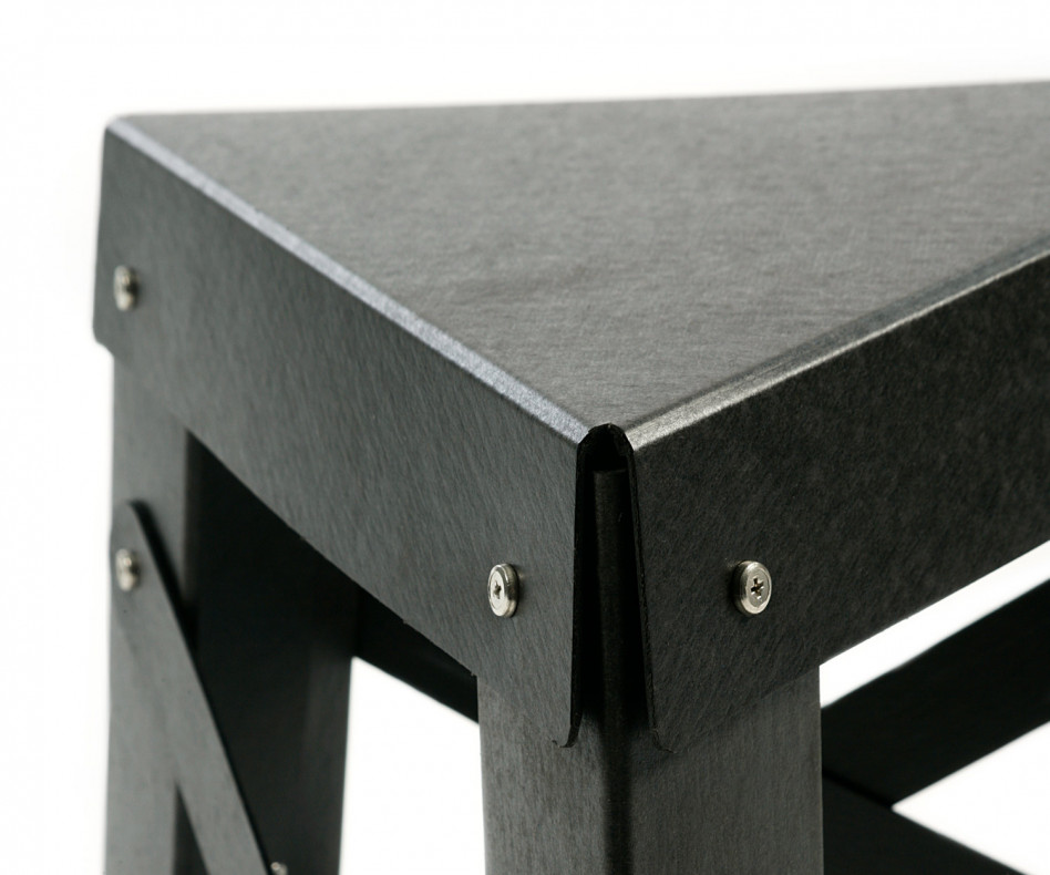 Exklusiver RS Barcelona Eiffel Paper Design Hocker in Anthrazit