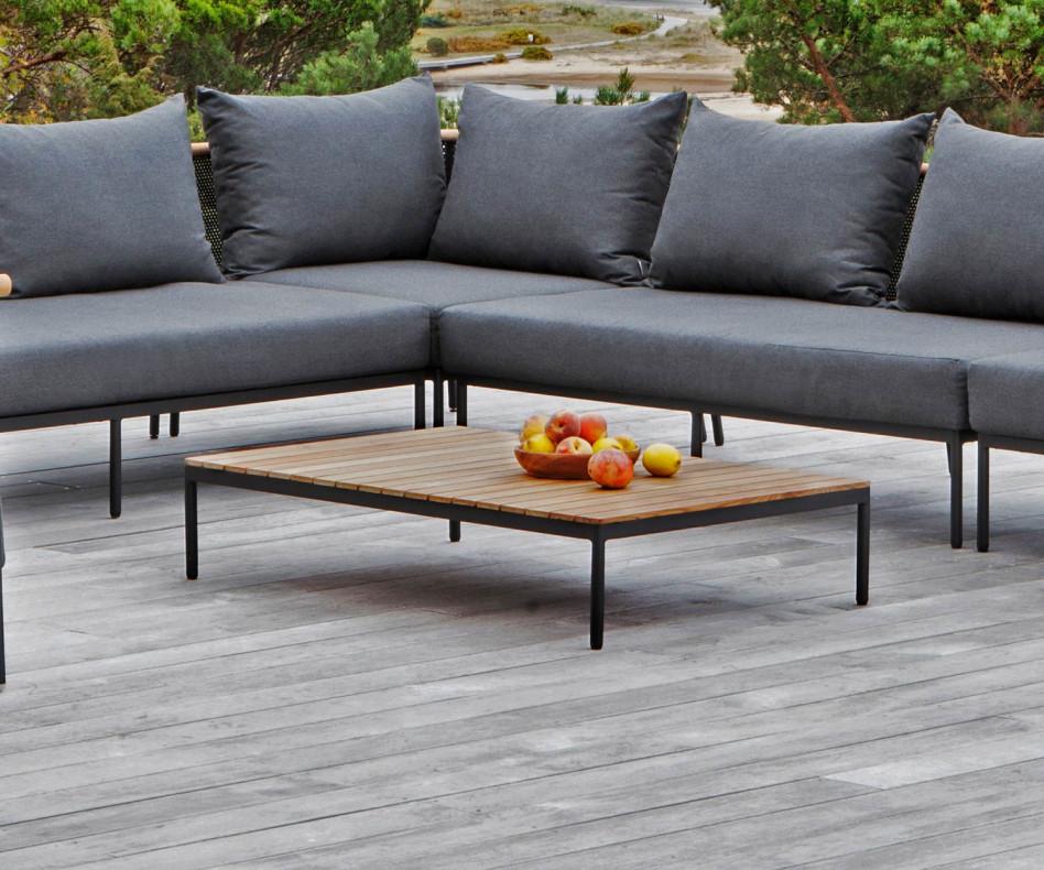 Exklusiver Oasiq Riad Design Beistelltisch mit Teakholz Top