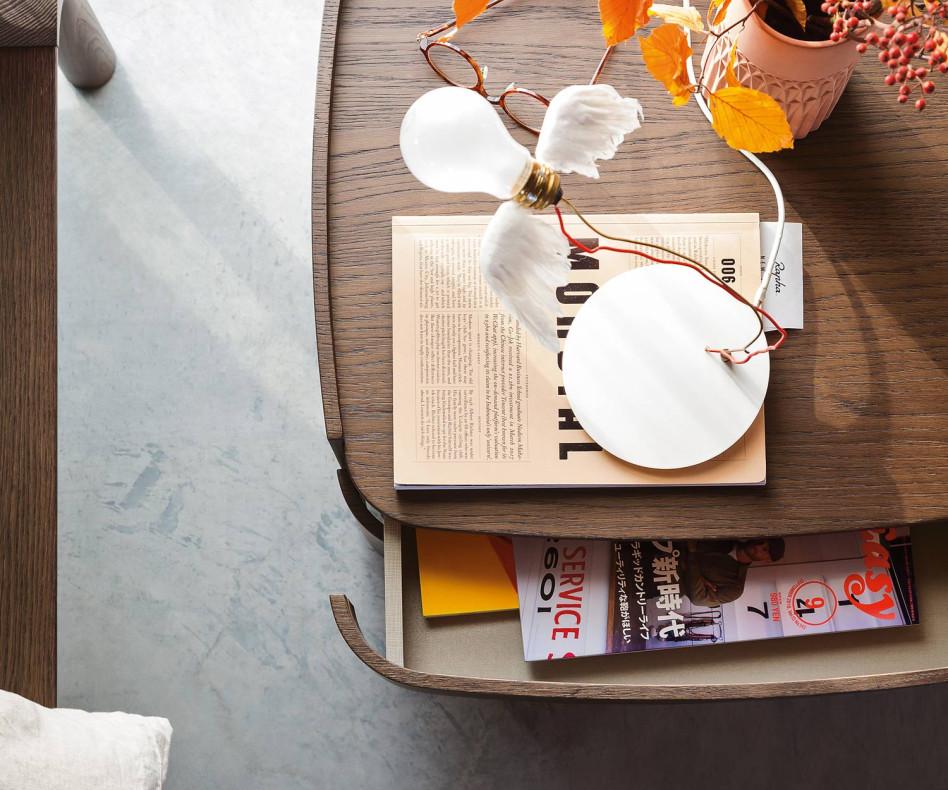 Novamobili Design Nachttisch Norman 2 Schubladen Eiche hell Honig