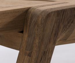 Hochwertige Diuna Teak Design Strandliege im Detail 100% Teakholz