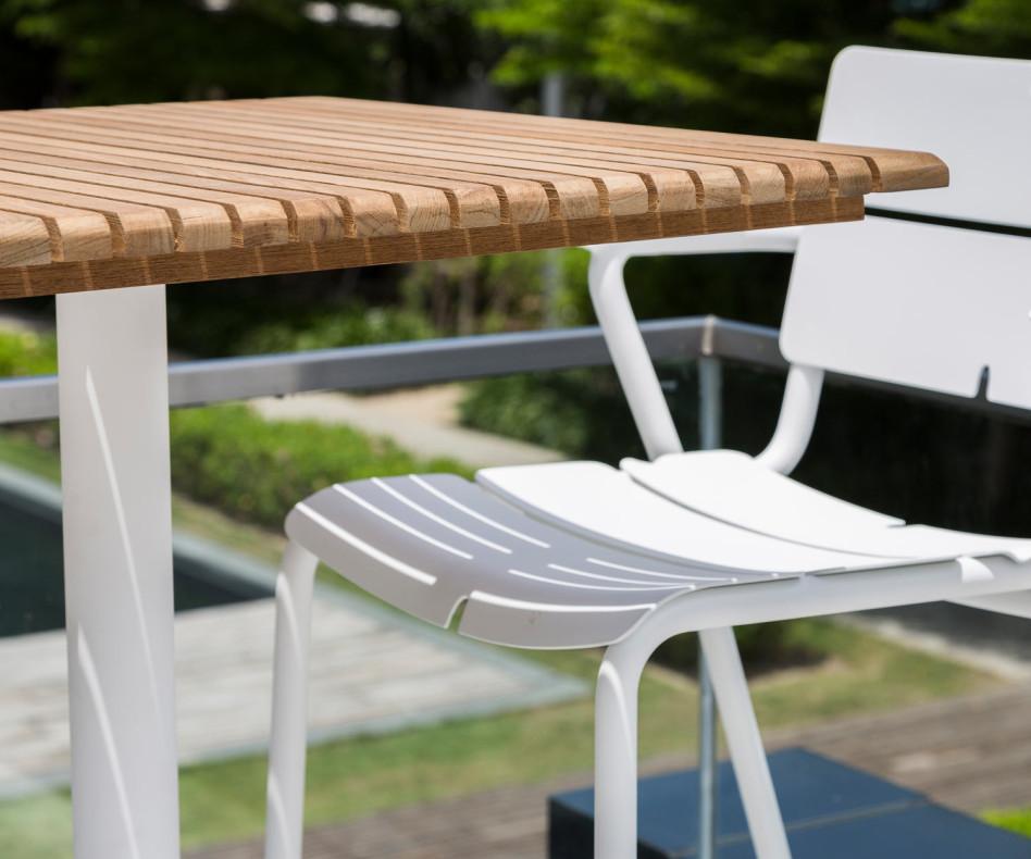 Moderner Oasiq Ceru Aluminium Design Esstisch Tischplatte in Anthrazit