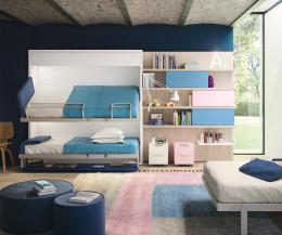 Kinderzimmer Doppelstockbett für Wandmontage