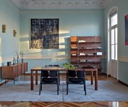 Hochwertiger Design Esstisch al2 ka-bera 001 b Ensemble im Esszimmer mit Stühlen