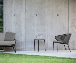 Designer Loungesessel Condor von Todus Anthrazit Gestell Anthrazit Polsterbezug