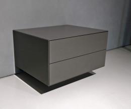 Hochwertiger Boxspring Ecletto Design Nachttisch hängend mit 2 Schubladen