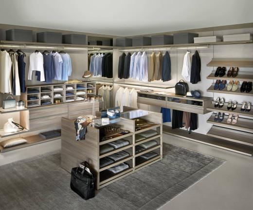 Exklusives Livitalia Panorama Design Ankleidezimmer System