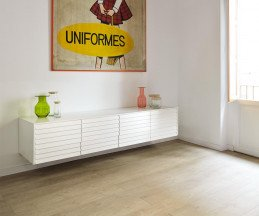 Modernes Punt Sussex TV Design Sideboard wand hängend B 177 Eiche Weiß