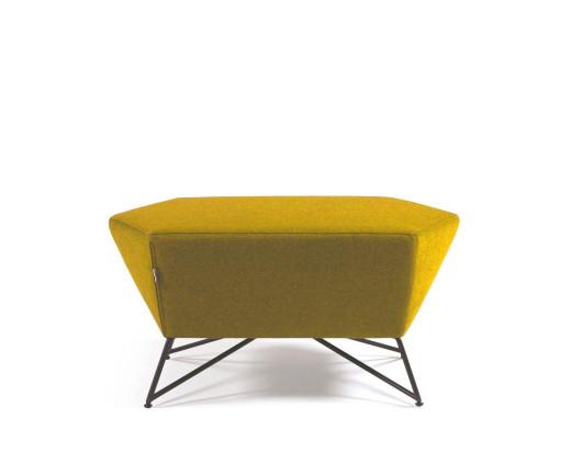 Exklusiver Prostoria Design Hocker 3angle Pouf in Gelb