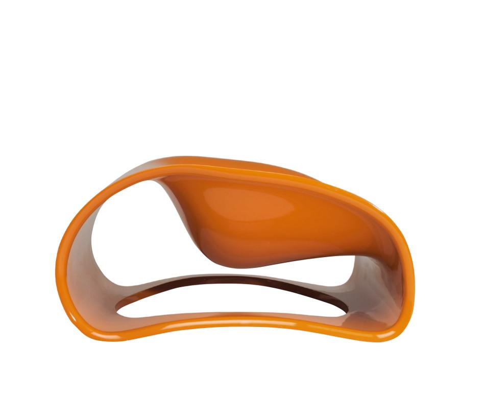 spHaus Soft Pill Design Sessel in Weiß im Wohnzimmer