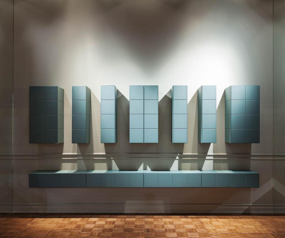 Modernes Design System Hängeschränke einzelne Module in diversen Kombinationen