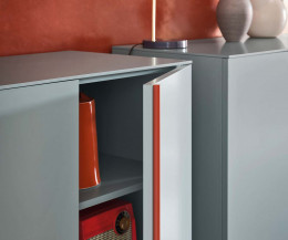 Novamobili Design Highboard Cleo Tür offen