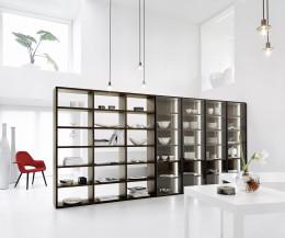 Hochwertiges Design Bücherregal C91 Glastüren Raumteiler