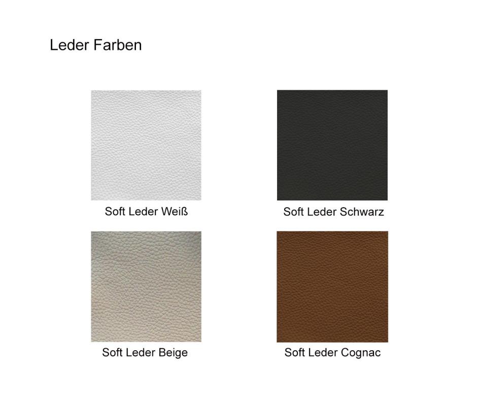 Exklusiver Ozzio Designer Stuhl Blitz mit Leder gepolstert Schwarz Weiß