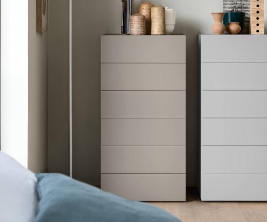 Novamobili Design Kommode Easy 6 Schubladen weiß glänzend B 54cm
