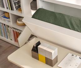 Hochwertiges Clei Kali 90/120 Board Designer Schrankbett mit Schreibtisch Klappbar
