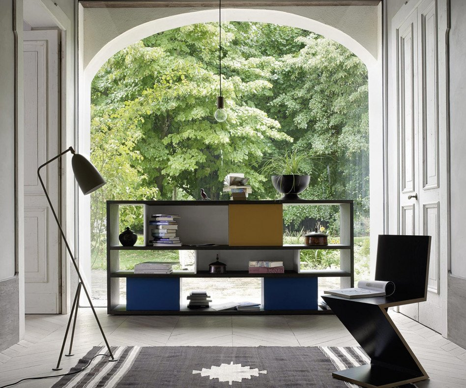 Exklusives Livitalia Design Standregal C80 in Eiche