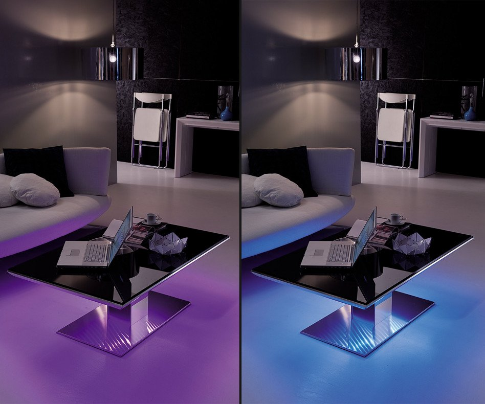 Ozzio Couchtisch Emotion LED Beleuchtung