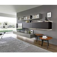 livitalia wohnwand c50 mit integrierter s ulen tv halterung. Black Bedroom Furniture Sets. Home Design Ideas