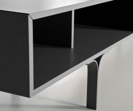 Detail offenes Fach vom al2 Mobius Design Lowboard 005