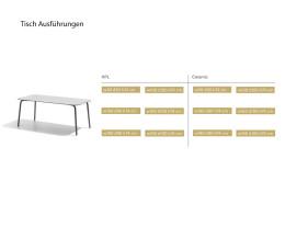 Design Gartentisch in Weiß Dunkelgrau Anthrazit Größenangaben Größen Maße