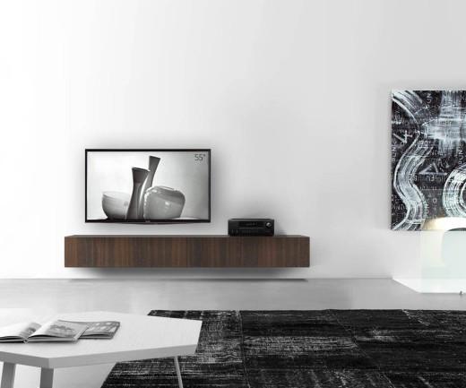 Livitalia Holz Lowboard Konfigurator Wand 240 cm 32 cm 56 cm Eiche braun