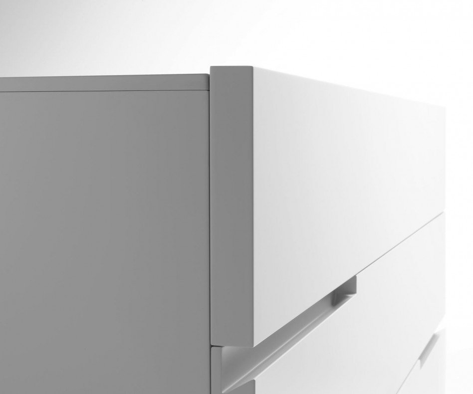 Moderne Livitalia Tacca Design Hochkommode in Weiß