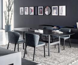 Novamobili Tisch Torii Details Eiche Carbon
