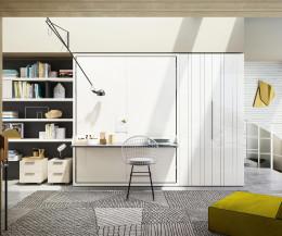 Exklusives Clei Penelope 2 Board Design Schrankbett mit Schreibtisch