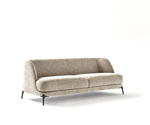 Novamobili Design Sofa Velvet mit Kaltschaumpolsterung