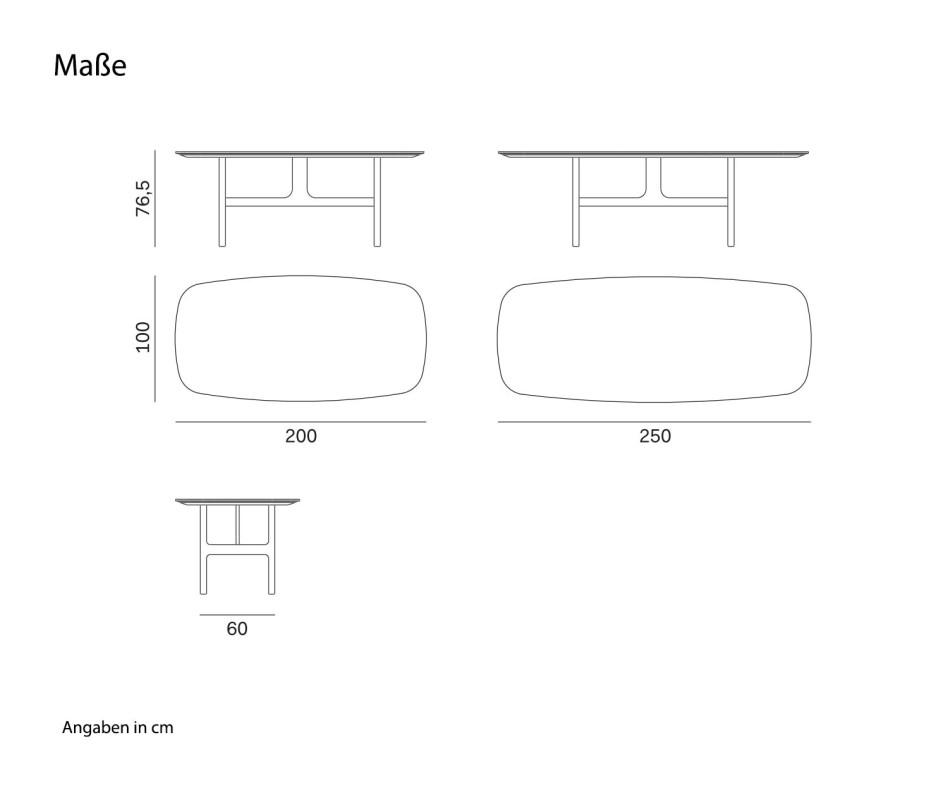 Novamobili Design Tisch Torii Weiß Matt