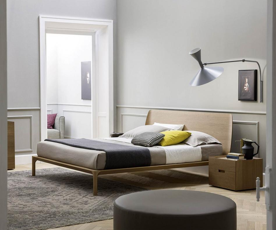 novamobili bett grace holzbett aus eiche. Black Bedroom Furniture Sets. Home Design Ideas